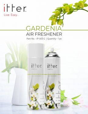 itter Premium Air Freshener Spray for Car, Home and Office (270 ml /153 g) (Gardenia)