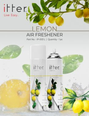 itter Premium Air Freshener Spray for Car, Home and Office (270 ml /153 g) (Lemon)