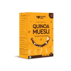 NOURISH YOU QUINOA MUESLI - CHOCOLATE & BANANA 375G