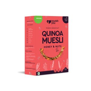 NOURISH YOU QUINOA MUESLI - HONEY AND NUTS 375G