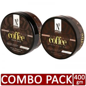 NutriGlow Natural's Combo of 2 Raw Irish Coffee Face Pack (200 gm) and Hydrating Gel (200 gm)